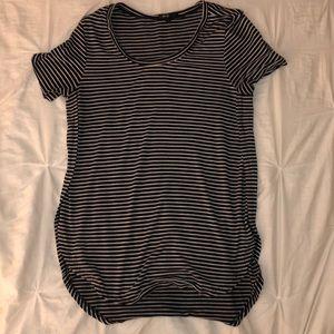 black & white striped shirt!